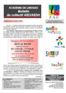 Bulletin du collectif AED/AESH FSU académique - Septembre Octobre (...)