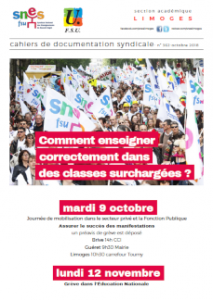 Bulletin académique 362 - Octobre 2018