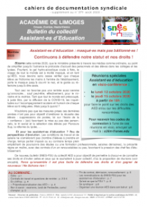 Bulletin du collectif AED académique - Septembre 2020
