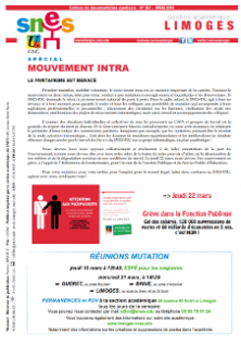 Bulletin académique 357 - Mars 2018 - Mouvement intra-académique