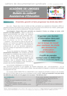 Bulletin du collectif AED académique - Novembre 2019