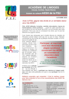Bulletin du collectif AESH FSU académique - Octobre-Novembre (...)