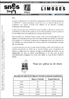 Bulletin académique Avril 2016 n°343