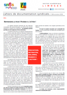 Bulletin académique 369 - Octobre 2019