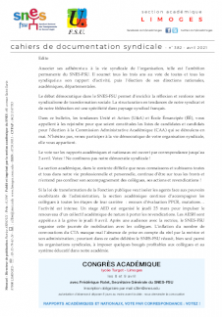 Bulletin académique 382 - Avril 2021