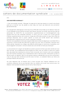 Bulletin académique 378 - Octobre 2020